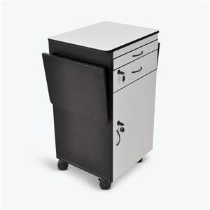 Luxor 38-in  Wood Multimedia Workstation - Gray