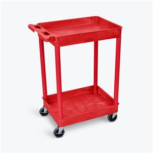 Luxor Tub Cart - Two Shelves - Red