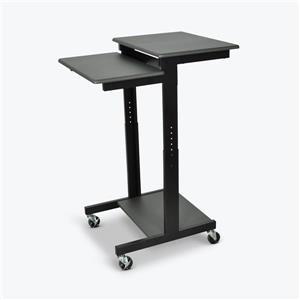 Luxor Adjustable-Height Presentation Workstation - Black