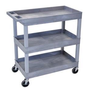 Luxor Tub Cart - Three Shelves - Gray