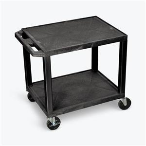 Luxor AV Cart - Two Shelves - 26-in High - Black