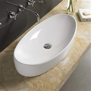 American Imaginations Vessel Sink - 31-in - White