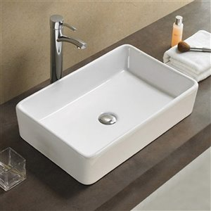 American Imaginations Vessel Sink - 24-in - White