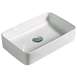 American Imaginations Vessel Sink - 14.2-in - White
