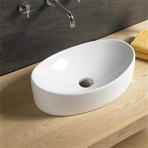 American Imaginations Bathrom Sink - 25.6-in - White
