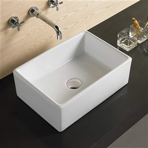 American Imaginations Vessel Sink - 23-in - White