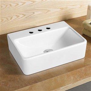 American Imaginations Vessel Bathroom Sink - 15.7-in - White