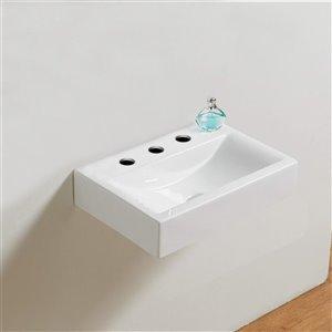 American Imaginations Rectangular Sink - 18.1-in - White