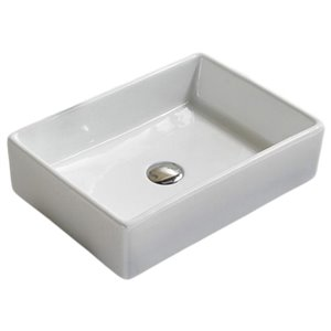 American Imaginations Vessel Sink - 18.5-in - White