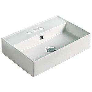 American Imaginations Vessel Sink - 19.7-in - Matt White