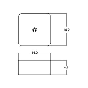 American Imaginations Vessel Square Sink - 14.2-in - Matt Black