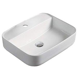 American Imaginations Vessel Sink - 20-in - White