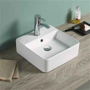 American Imaginations Vessel Sink - 16-in - Matt White