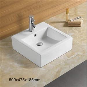American Imaginations Vessel Sink - 29.7-in - White