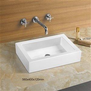 American Imaginations Vessel Sink - 22-in - White