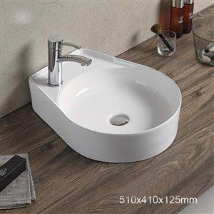 American Imaginations Vessel Sink -16.1-in - White