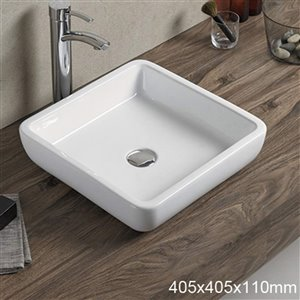 American Imaginations Vessel Sink - 15.9-in - White