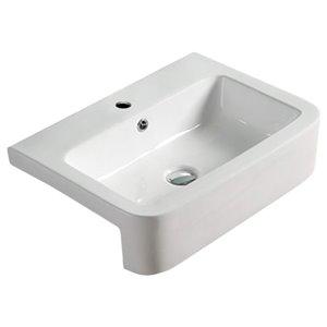 American Imaginations Vesseal Sink - 22.2-in - White
