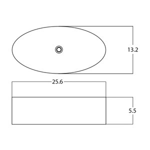 American Imaginations Vessel Sink - 25.6-in - White