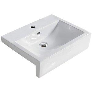 American Imaginations Vessel Bathroom Sink - 23.6-in - White