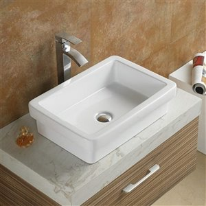 American Imaginations Vessel Sink - 20.5-in - White