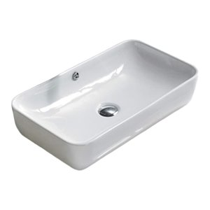 American Imaginations Vessel Round Sink - 23.6-in - White