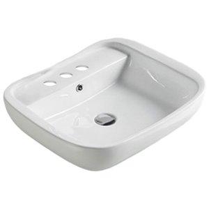 American Imaginations Vessel Bathroom Sink - 23-in - White