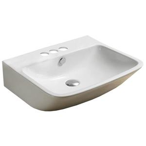 American Imaginations Rectangular Vessel Sink -21.5-in - White