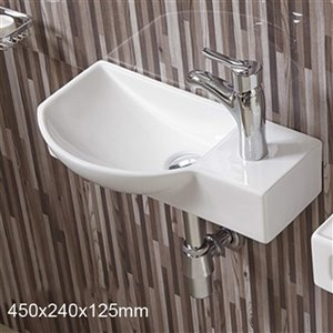 American Imaginations Bathroom Sink - 17.7-in - White