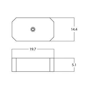 American Imaginations Vessel Rectangular Sink - 19.7-in - White