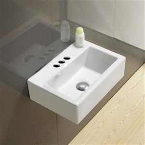 American Imaginations Rectangular Sink - 16.7-in - White