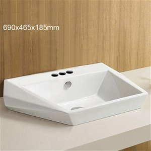 American Imaginations Vessel Sink - 27.2-in - White