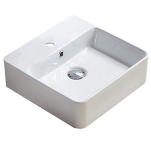 American Imaginations Vessel Sink - 15-in - White