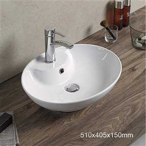 American Imaginations Vesseal Sink - 20.1-in - White