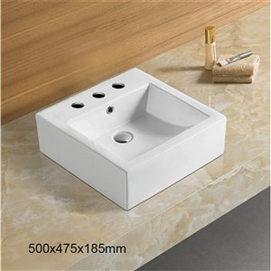American Imaginations Vessel Bathroom Sink - 29.7-in - White