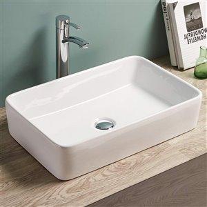 American Imaginations Vessel Rectangular Sink - 23-in - White
