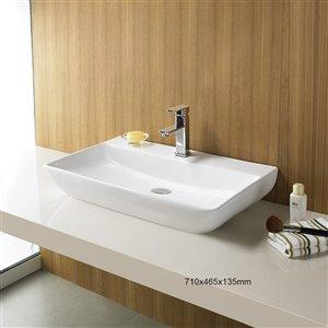 American Imaginations Vessel Sink - 28-in - White
