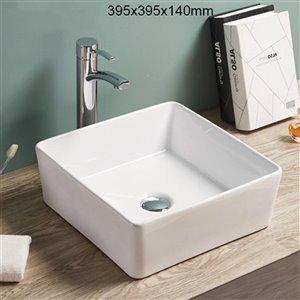 American Imaginations Vessel Sink - 15.6-in -White