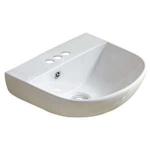 American Imaginations Wall-Mount Sink - 17.3-in - White