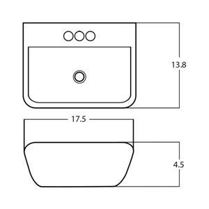 American Imaginations Vessel Sink - 17.5-in - White