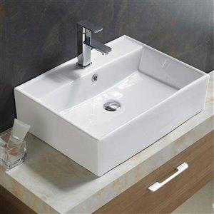 American Imaginations Vessel Sink - 23.23-in - White