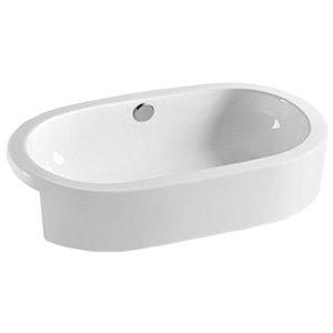 American Imaginations Vessel Bathroom Sink - 24.8-in - White