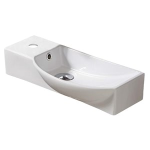 American Imaginations Wall-Mount Sink - 19.9-in - White