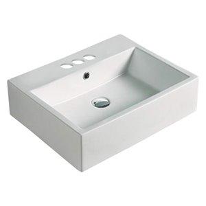 American Imaginations Vessel Bathroom Sink - 20.9-in - Matt White