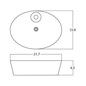 American Imaginations Vessel Sink - 21.7-in - White