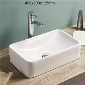 American Imaginations Round Bathroom Sink - 19.3-in - White