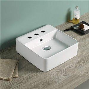 American Imaginations Vessel Bathroom Sink - 16-in - Matt White