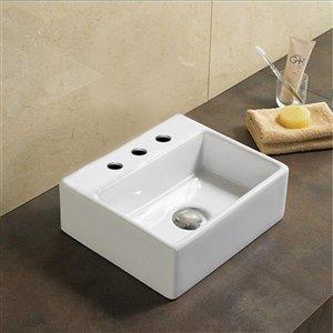 American Imaginations Vessel Bathroom Sink - 13-in - White