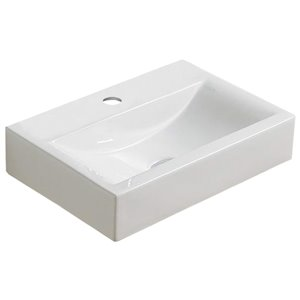 American Imaginations Wall-Mount Sink - 18.1-in - White
