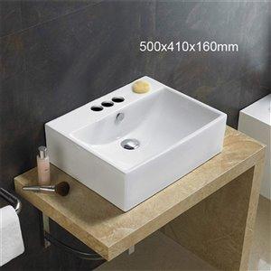 American Imaginations Vessel Bathroom Sink - 19.7-in - White